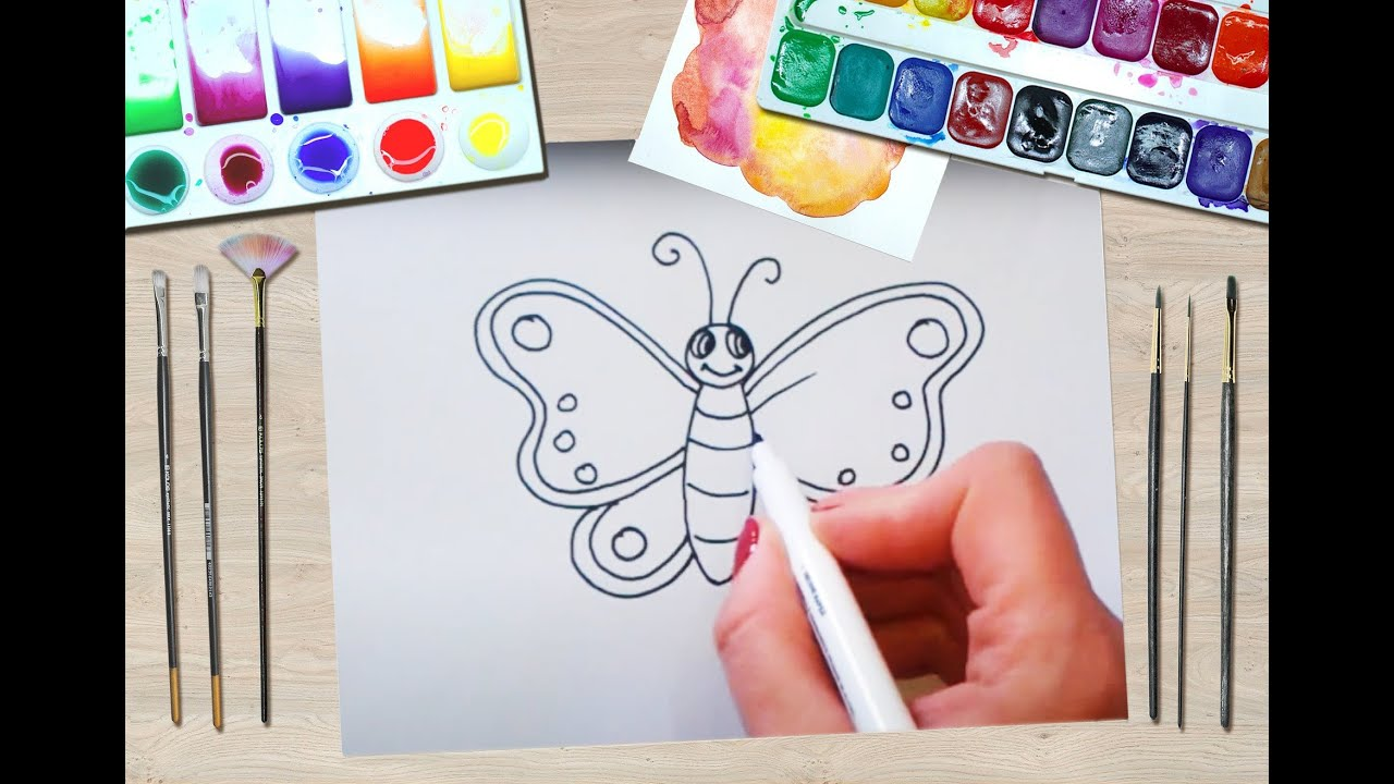 cum să desenezi viermele pentru copii)