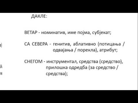 Srpski jezik za 5 razred padezi