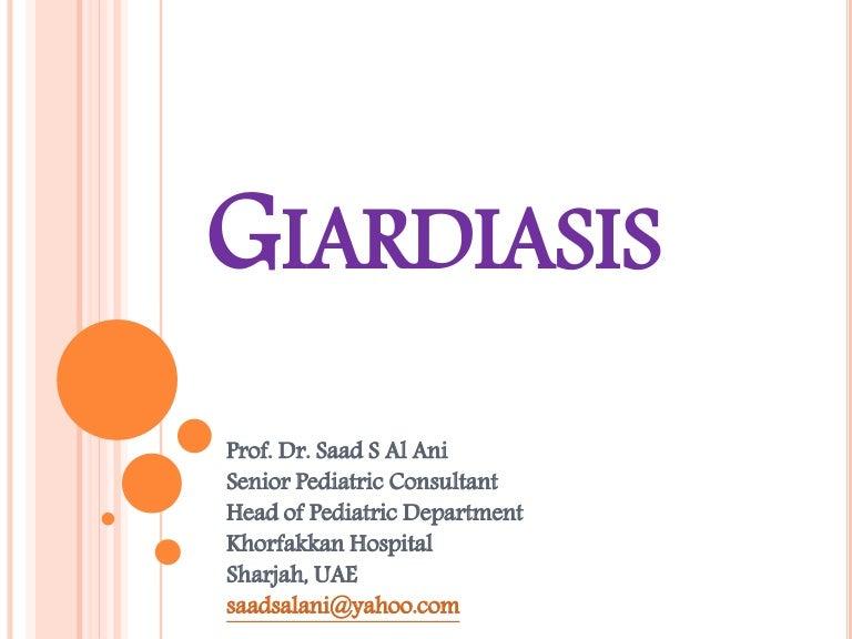 gastroenterita giardiei