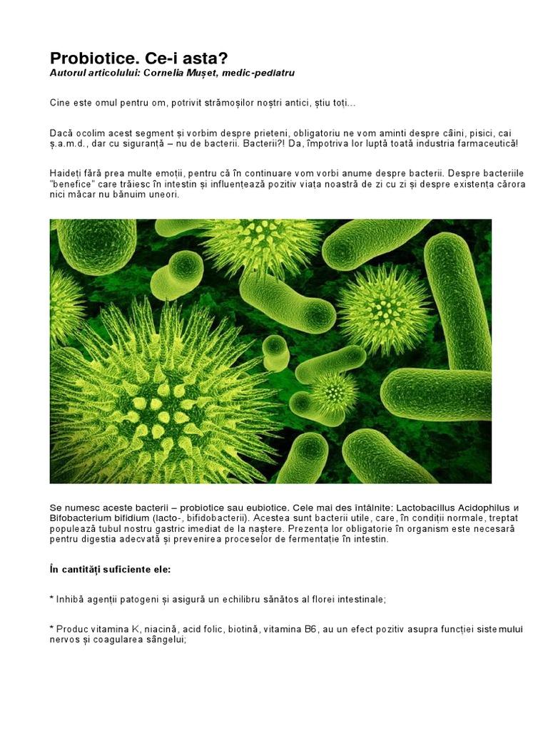 bacterii benefice organismului