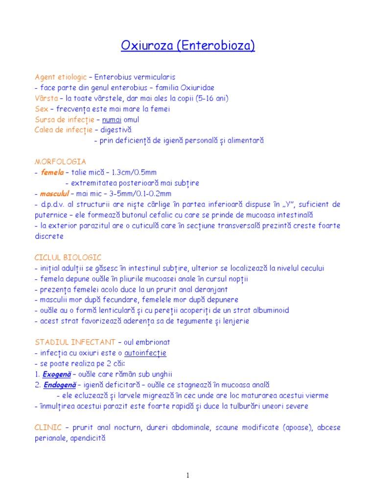tratament cu viermi de ou și enterobioză)