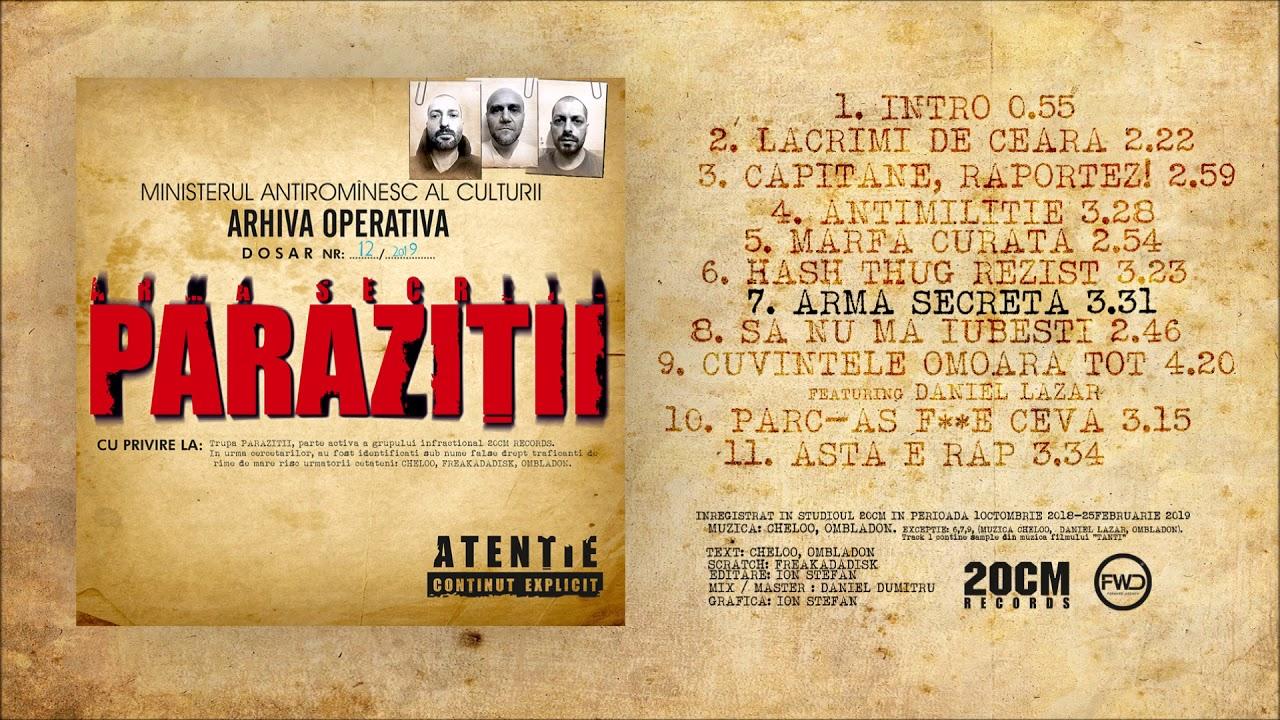Magazin oficial 20cm records / Parazitii - Muzica HipHop / Rap | HipHopLive - Magazin parazitii