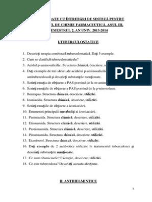 lista infecțiilor helmintice