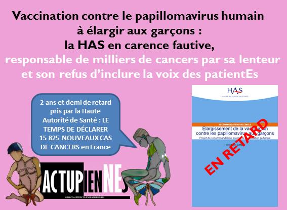 papillomavirus garcons