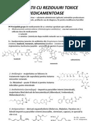 o mare varietate de medicamente antihelmintice)