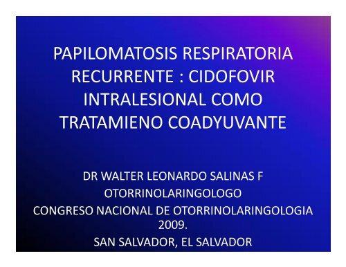 que es papilomatosis respiratoria)