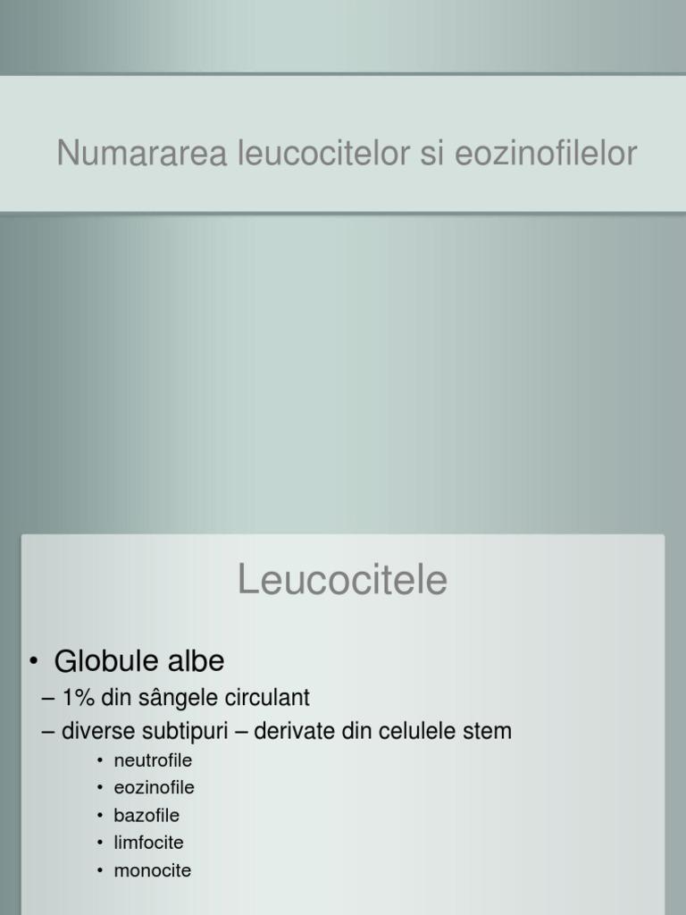 Eozinofile (EO) - valori normale, rol în organism, interpretare număr crescut sau scăzut