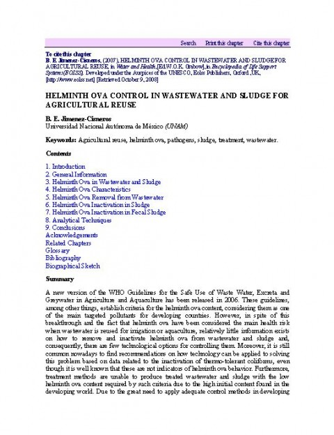 helminth treatment summary)