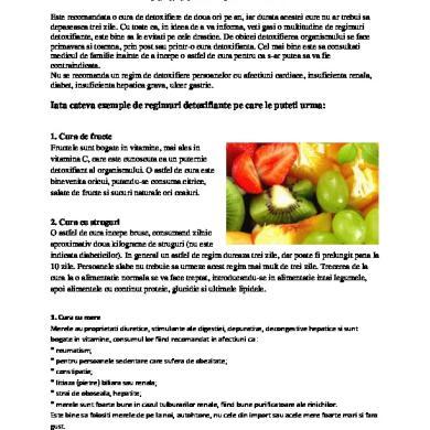 detoxifiere fata