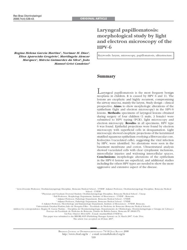 papillomavirus larynge)