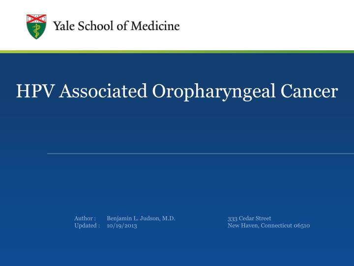 hpv and cancer ppt