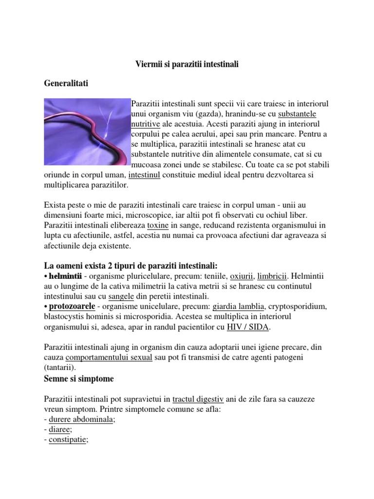 paraziti cryptosporidium și giardia)