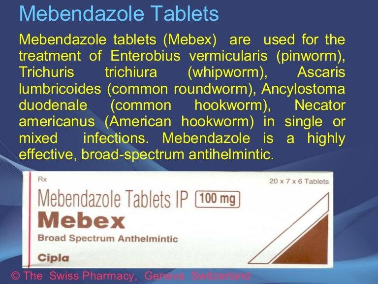 treatment of oxyuris vermicularis
