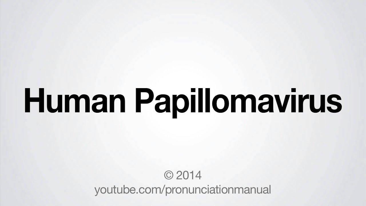 Papillomavirus meaning pronunciation