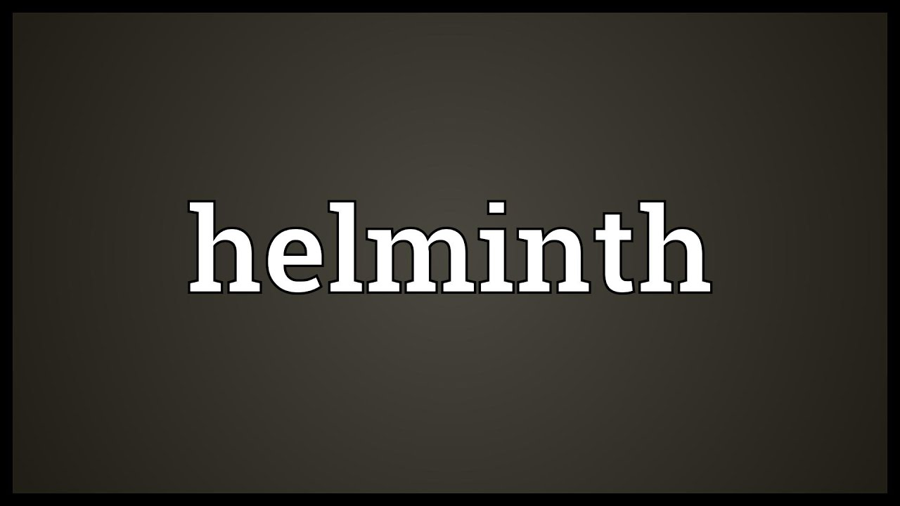 helminth meaning science)