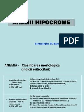 anemie microcitara