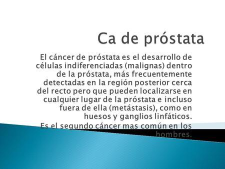 cancer de prostata slideshare)