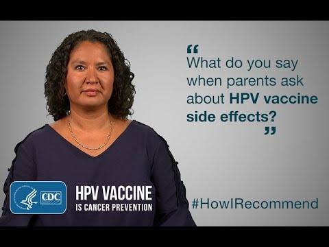 Hpv vaccine side effects how long do they last