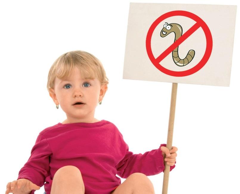 la copii, prevenirea helmintiazei este frecventă)