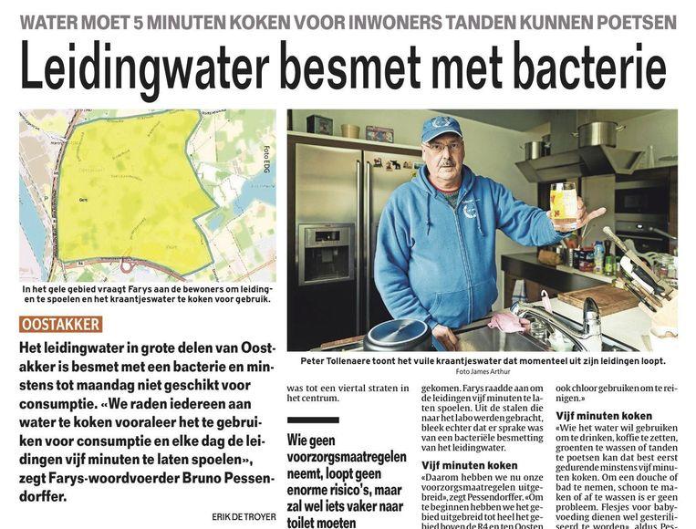 bacterie water gent