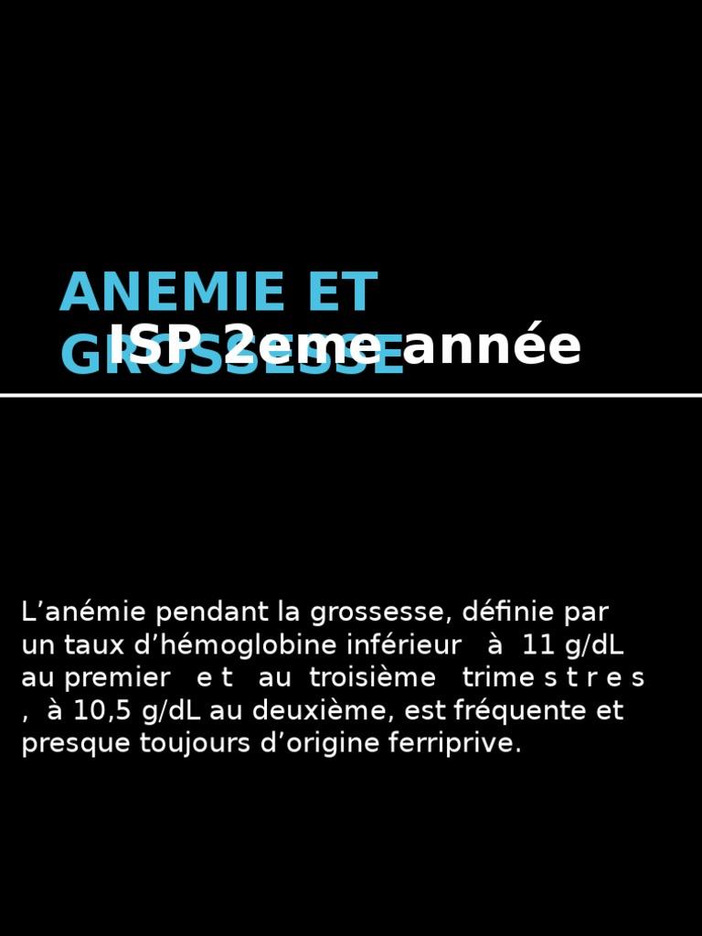 anemie 10 grossesse)