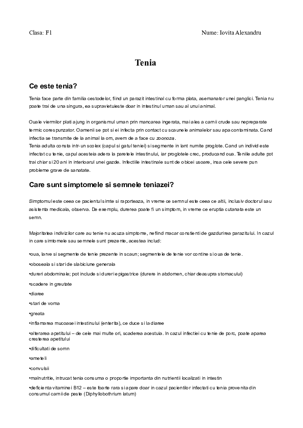 simptomele diphildobothriasis)