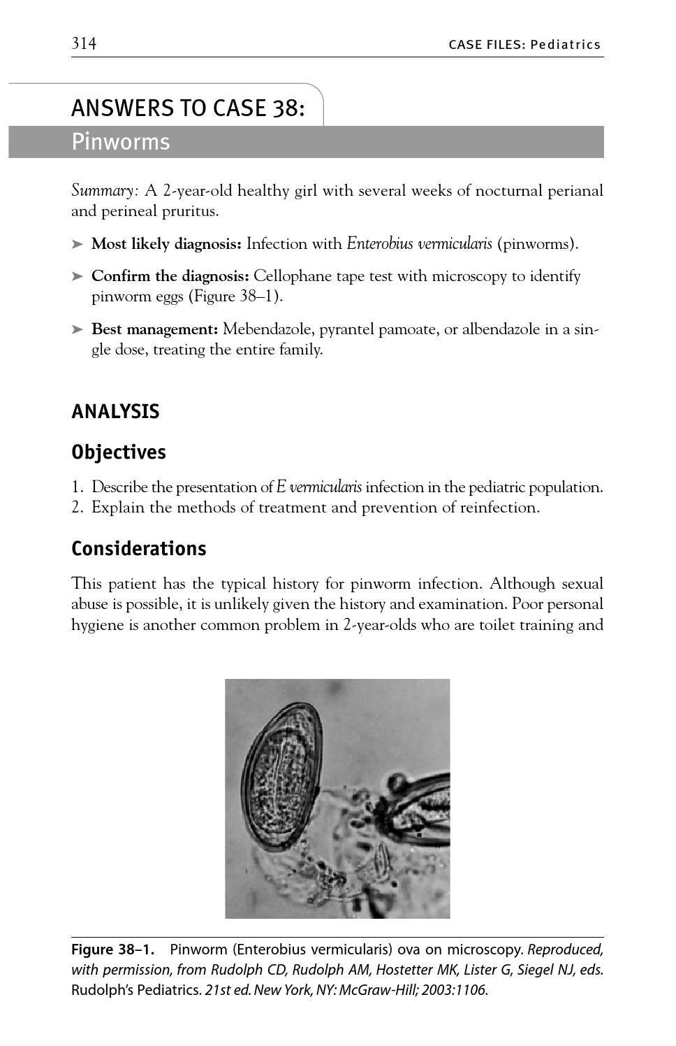 enterobius vermicularis treatment pediatric)