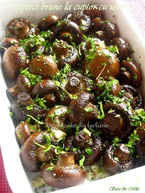 ciuperci brune la cuptor