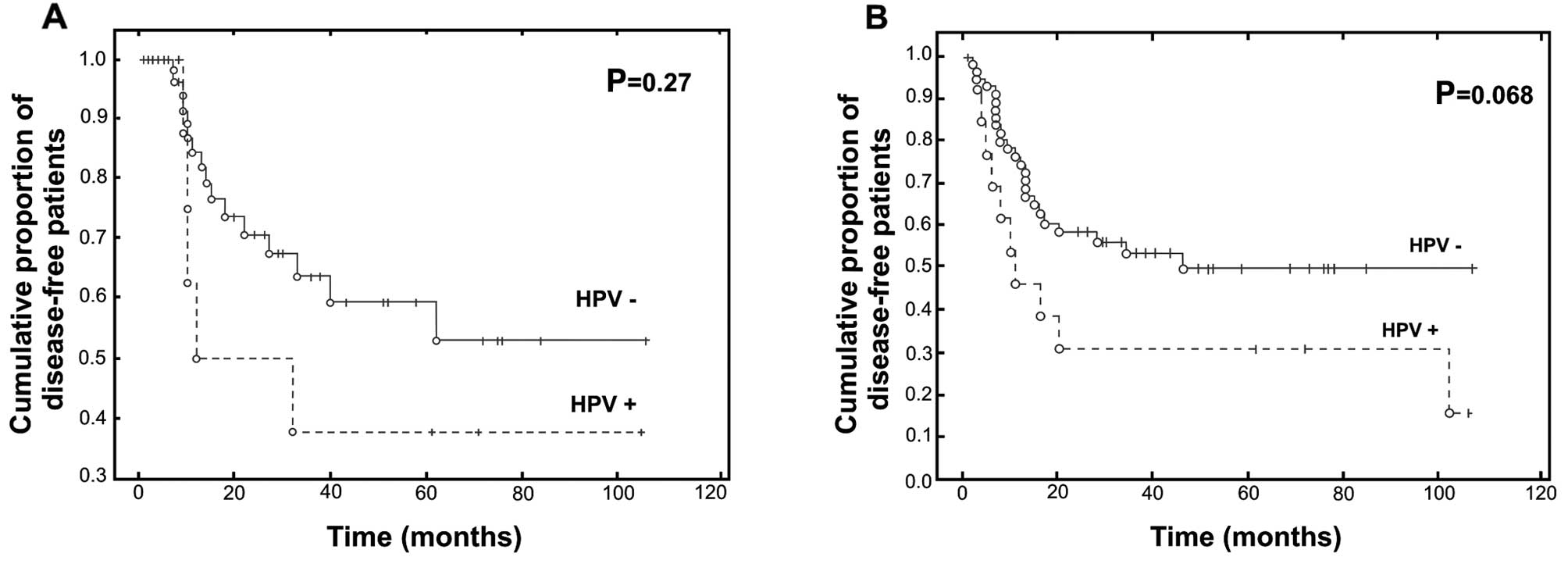 hpv throat cancer recurrence survival rate)