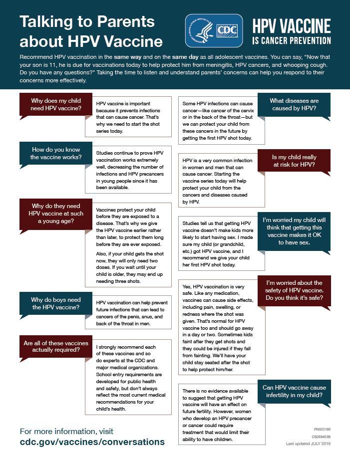 human papillomavirus vaccine guidelines)