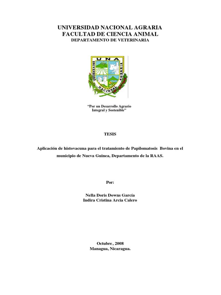 Trat Seghnp, Papilomatosis en bovinos