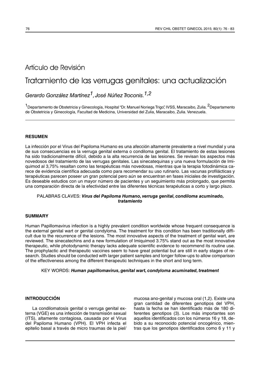 papilomatosis genital tratamiento)