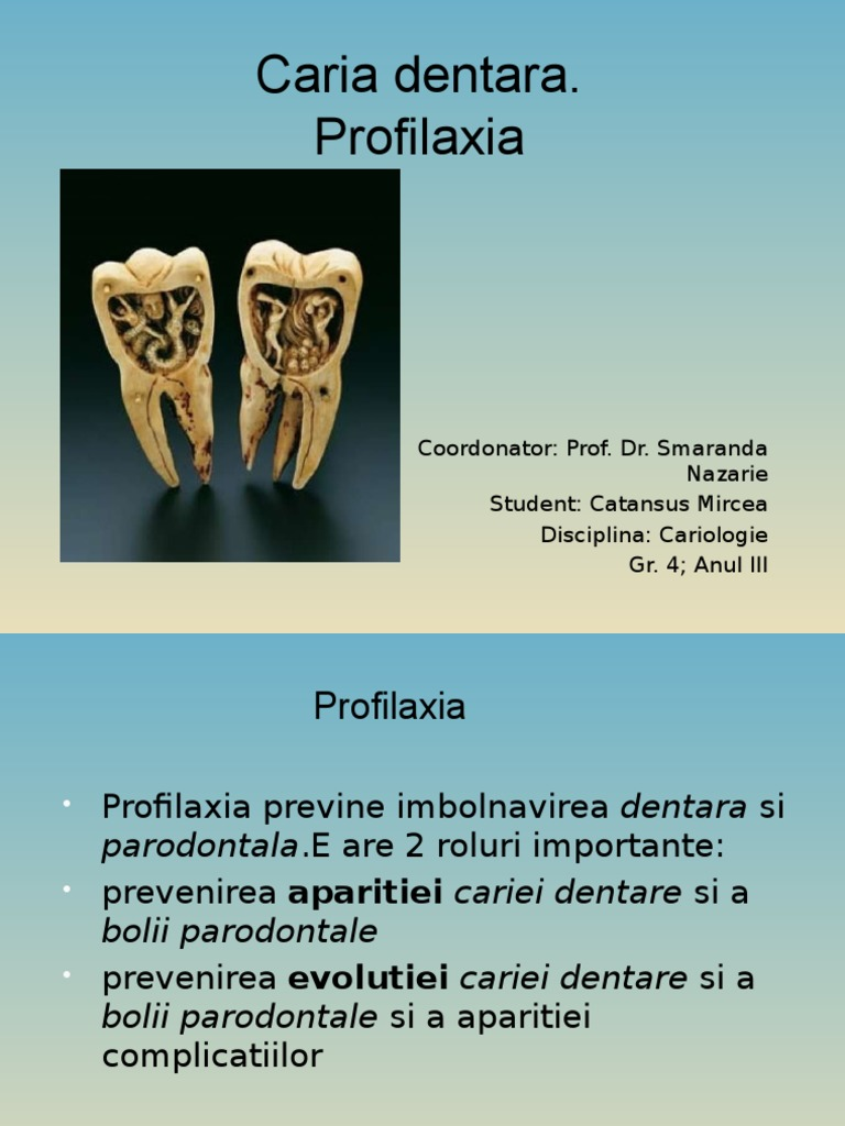 Rolul igienei orale în prevenirea afecţiunilor dentare şi ale mucoasei orale