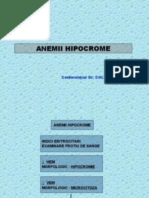 anemie microcitara)