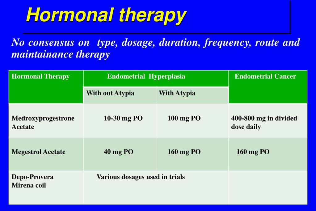 endometrial cancer hormonal therapy)