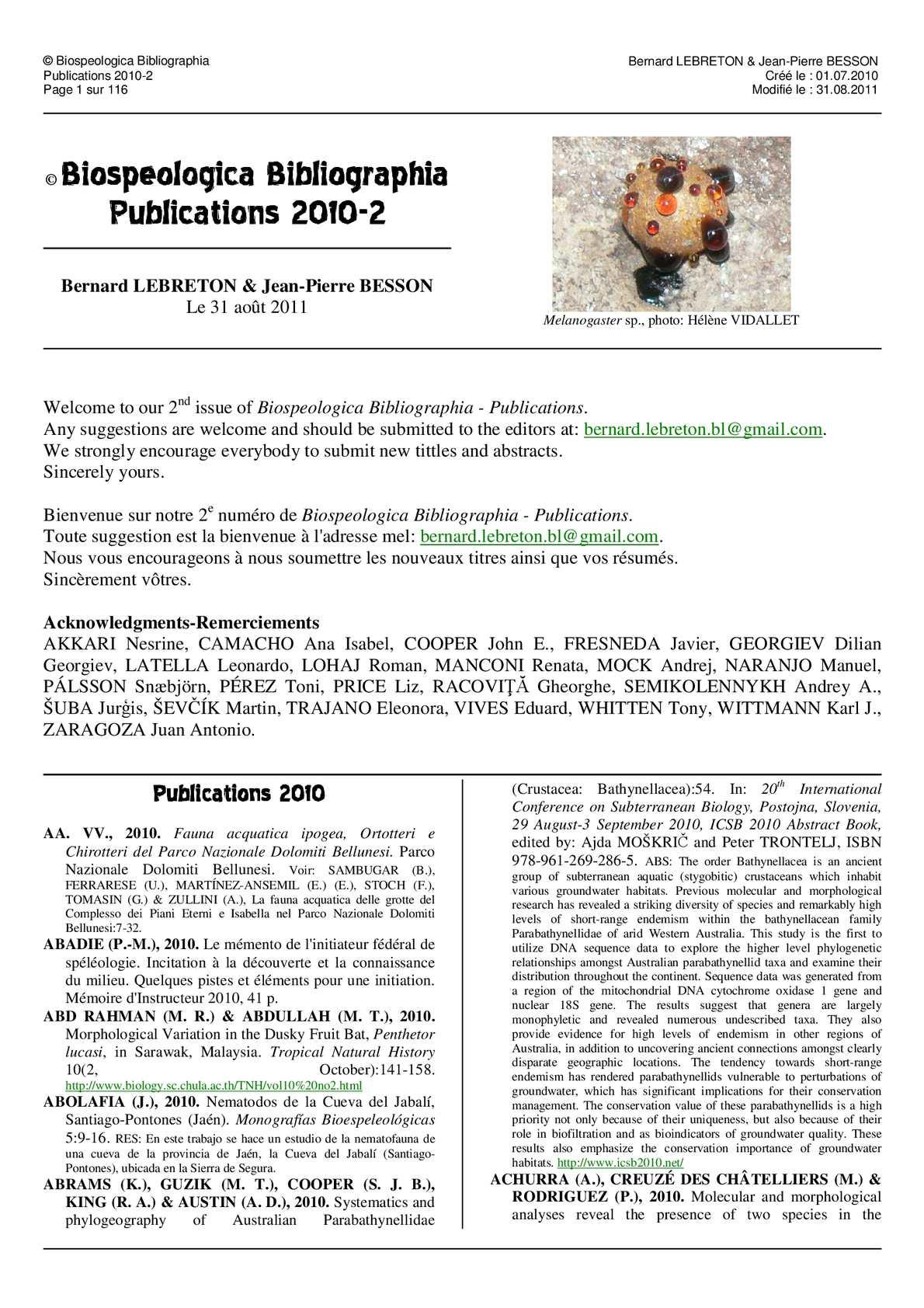 specii comune de platyhelminthes
