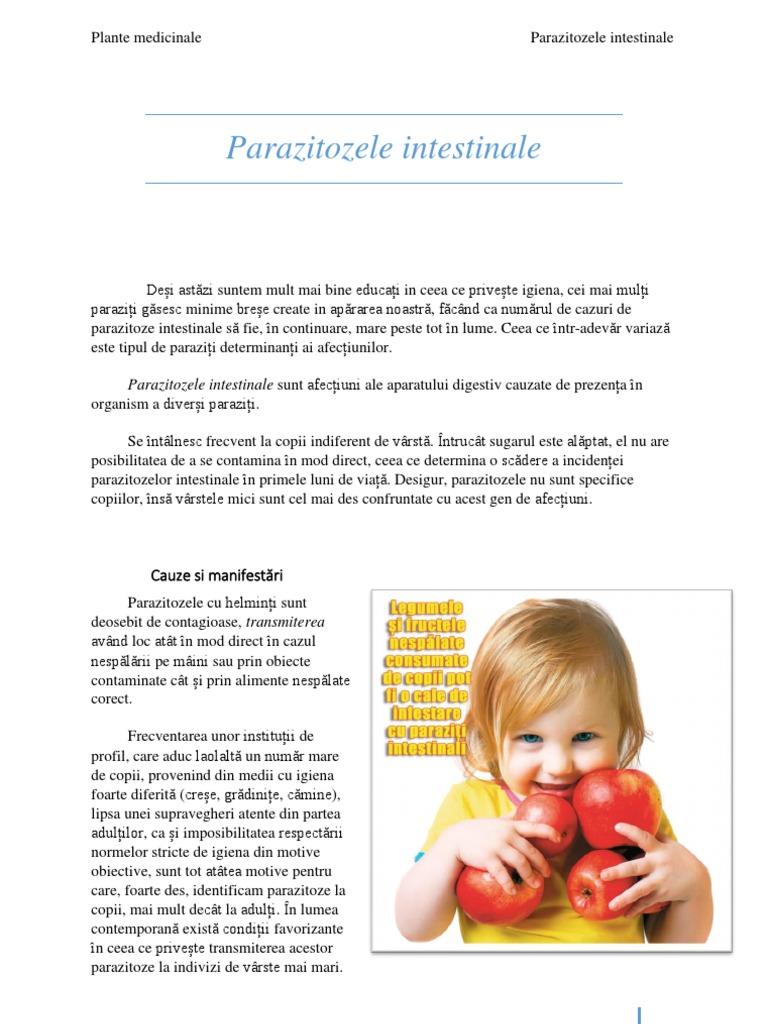 prevenirea helmintelor la copii)