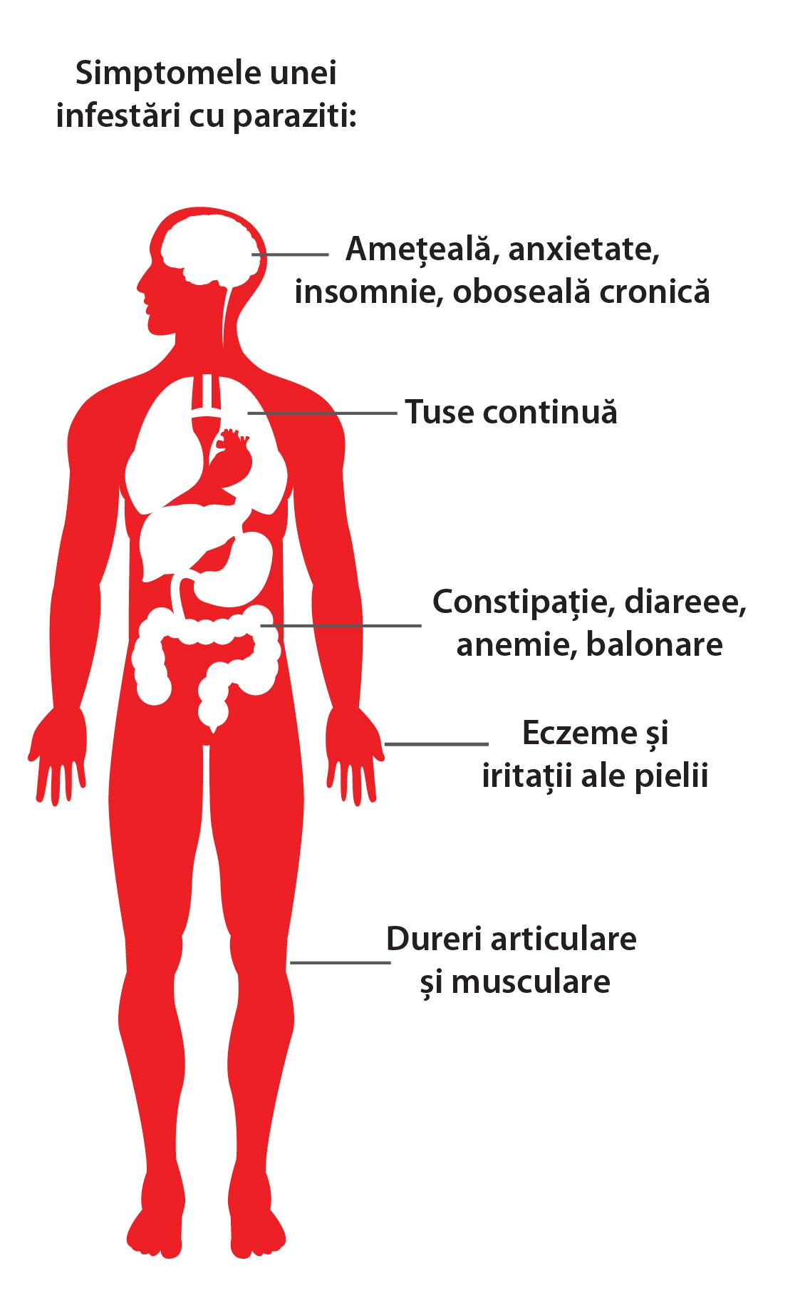 paraziți la simptomele pielii umane