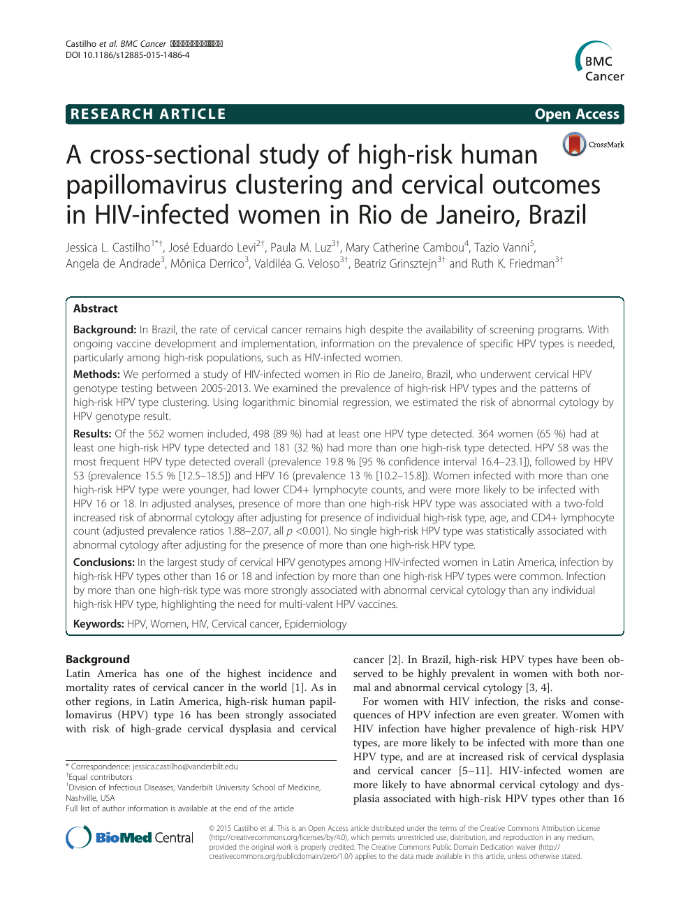 hpv high risk genotype tp)