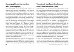 Human papillomavirus vaccines who position paper may 2019?recommendations