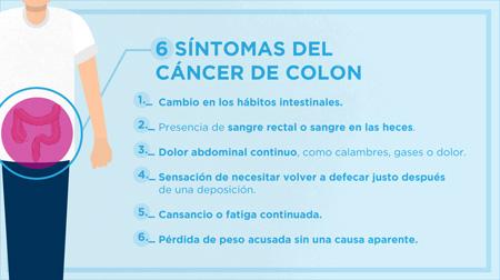 cancer de colon quais os sintomas)