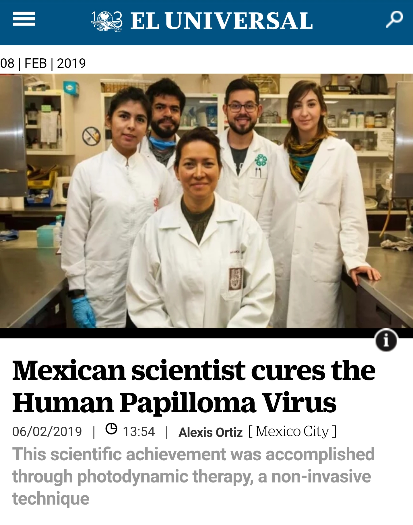 hpv cure mexican scientist