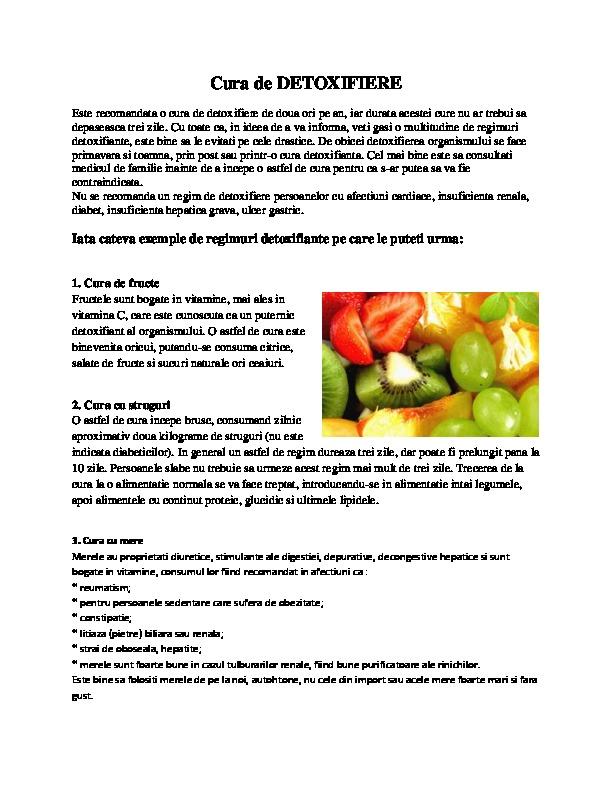 regim alimentar pentru detoxifiere)