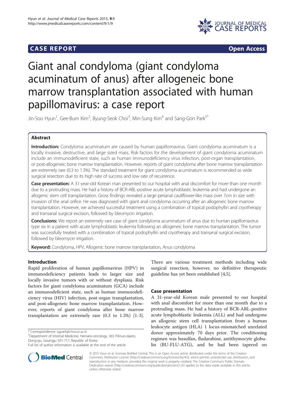 condyloma acuminata literature review