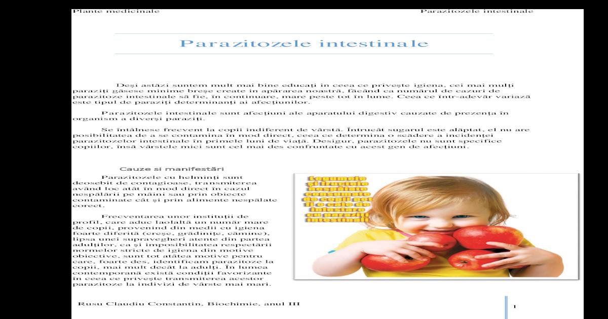 Clinica de tratament a viermilor umani