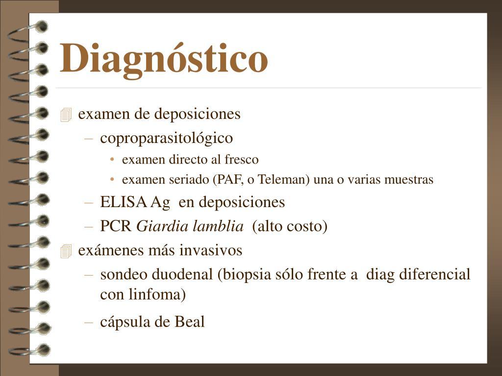 giardia duodenalis diagnostico