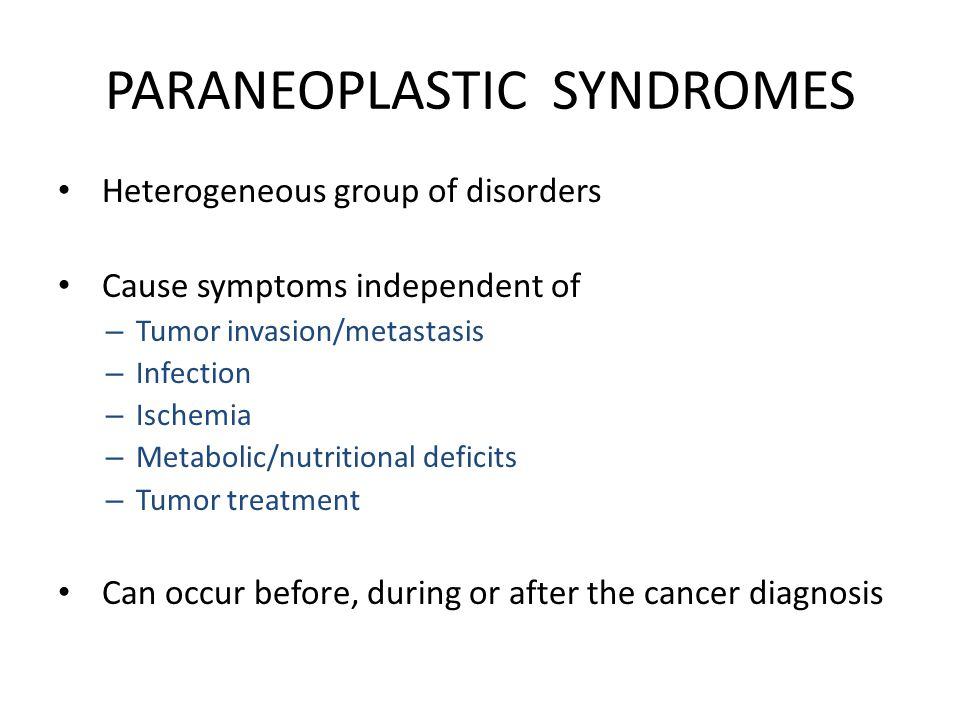 gastric cancer paraneoplastic syndromes)