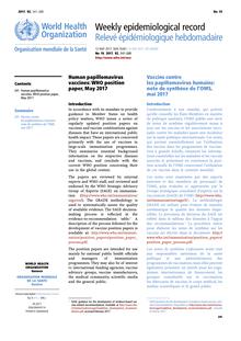 human papillomavirus vaccines who position