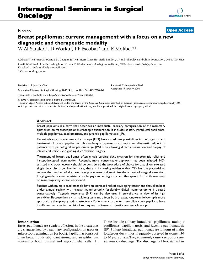 enterobius vermicularis disease papilloma duct