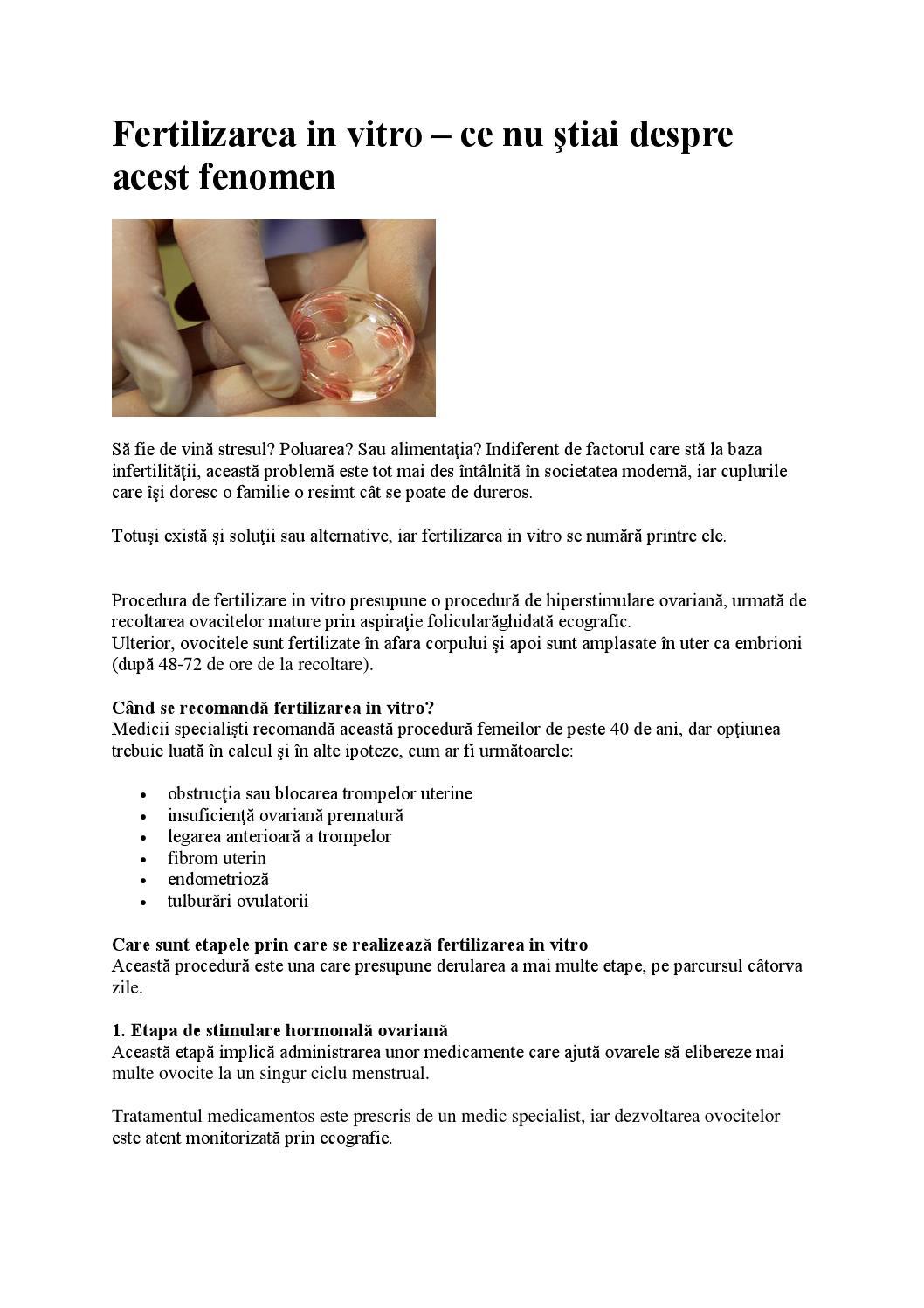 tratamentul ovocitelor